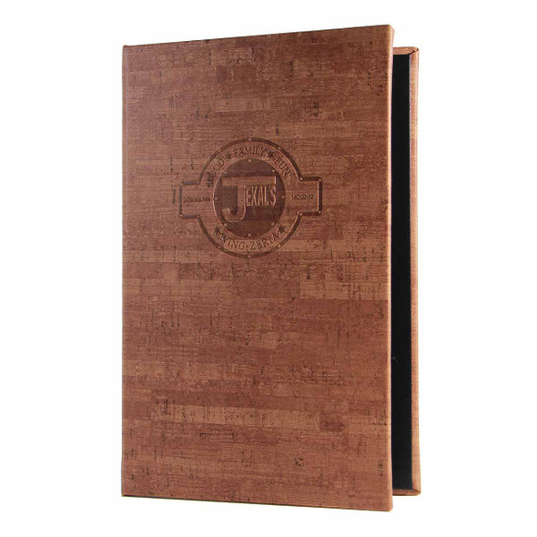 "Cork Look Three Ring Binder 5.5"" x 11"" in vintage."