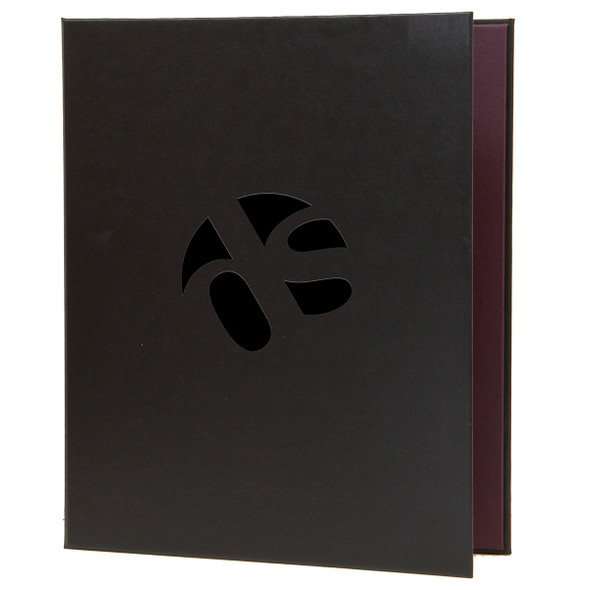 Delano Screw Post Menu Cover in black