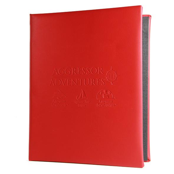 La Costa Screw Post Menu Cover in red