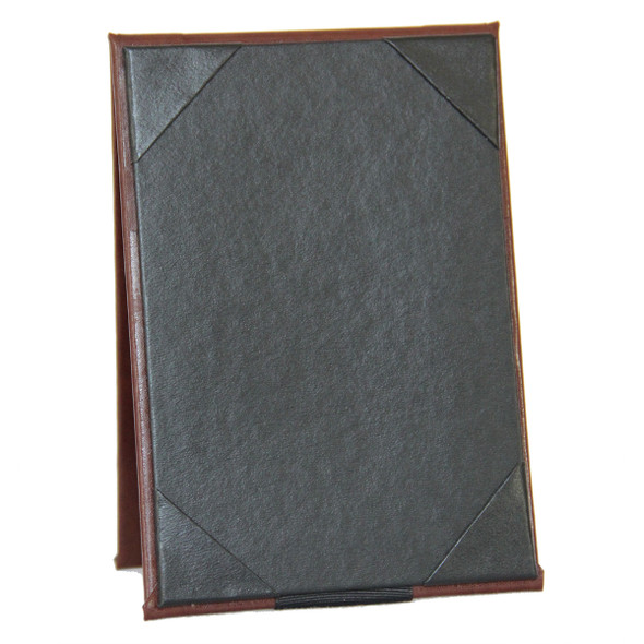 Bonded Leather Two View Table Tent 8.5 x 11