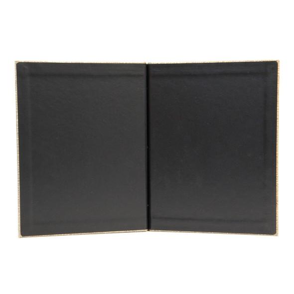 Interior of Bahama Weave Chicago Menu Board with delano black.