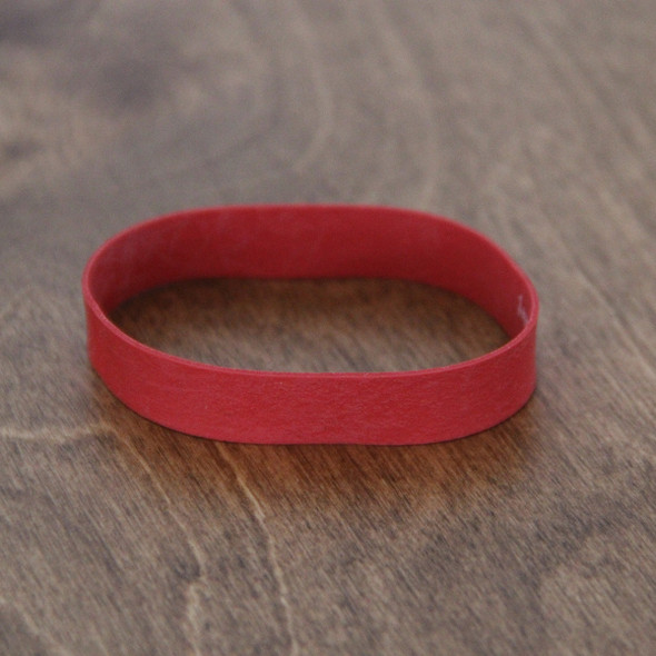 Small red rubber bands for menu boards.