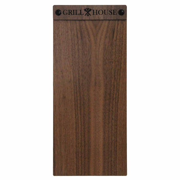 Solid walnut wood menu board with screws 4.25 x 11