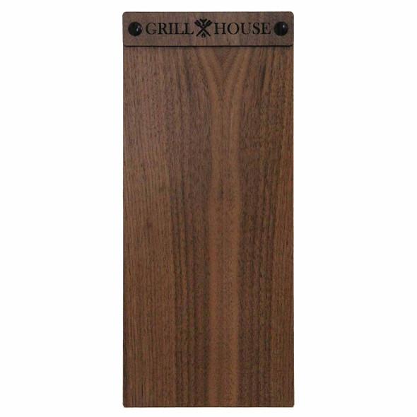 Solid walnut wood menu board with screws 4.25 x 11