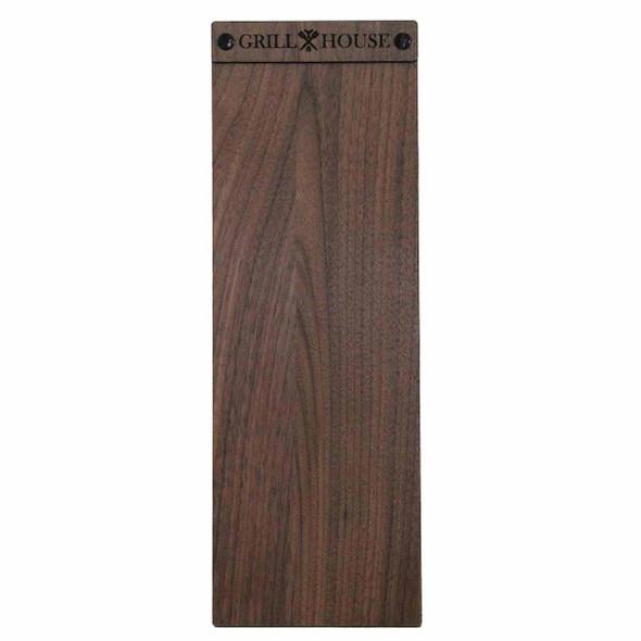 Solid walnut wood menu board with screws 4.25 x 14