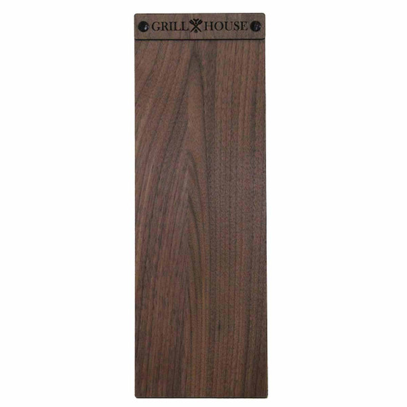 Solid walnut wood menu board with screws 4.25 x 14