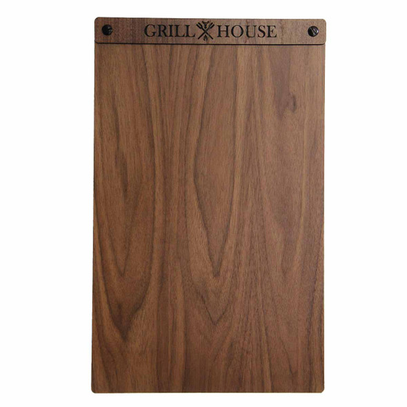 Solid walnut wood menu board with screws 8.5 x 14