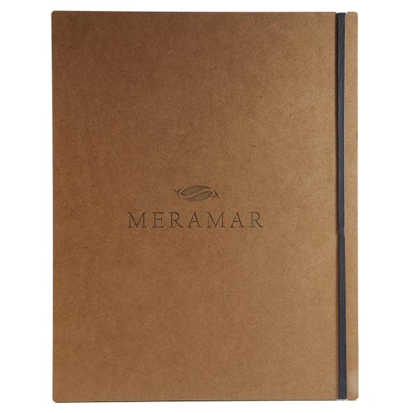 Premium Hardboard Menu Board with Vertical Band