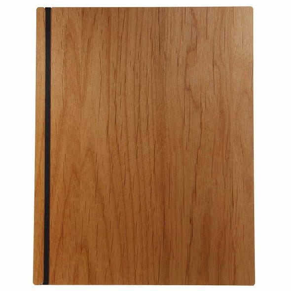 Solid Alder Wood Menu Board with Black Vertical Band