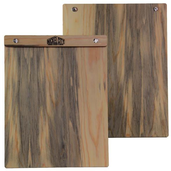 Blue Pine Wood Menu Board with Screws