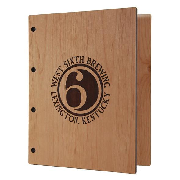 Riveted Alder Wood Three Ring Binder 5.5 x 8.5