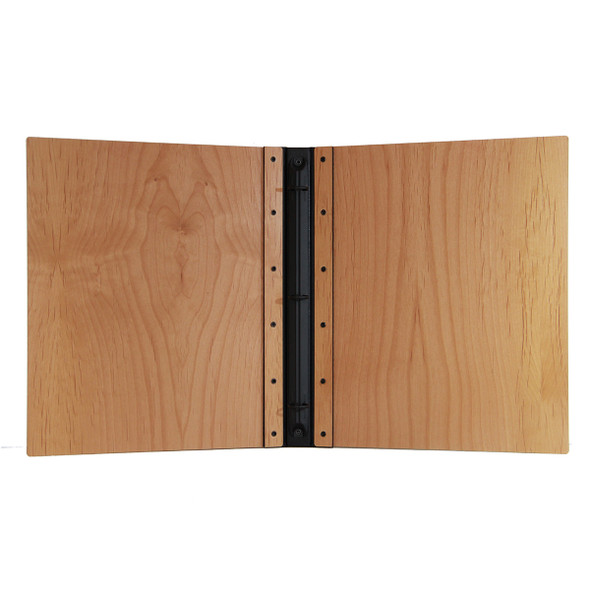 Riveted Alder Wood Three Ring Binder Interior
