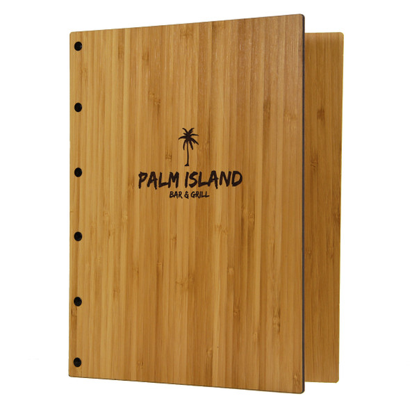 Riveted Bamboo Wood Screw Post Menu Cover