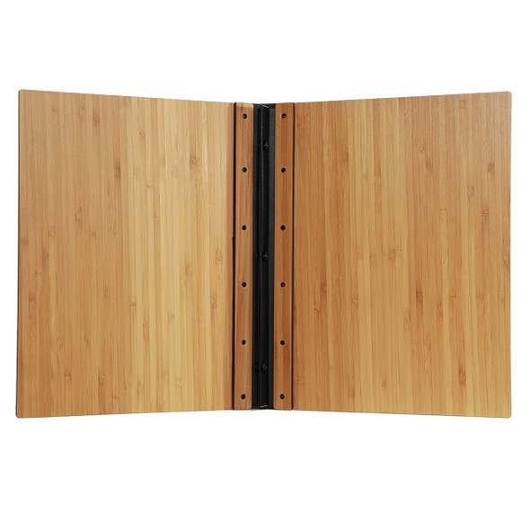Riveted Bamboo Wood Screw Post Menu Cover Interior