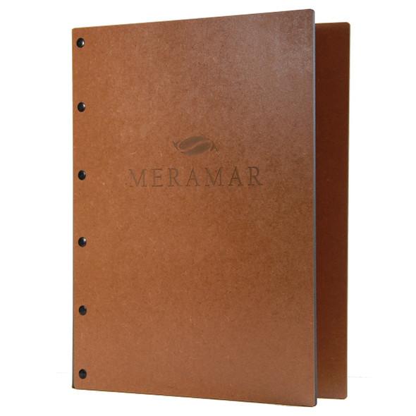 Riveted Premium Hardboard Screw Post Menu Cover
