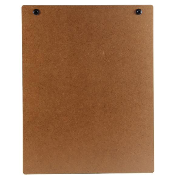 Premium Hardboard Menu Board with Screws Back View