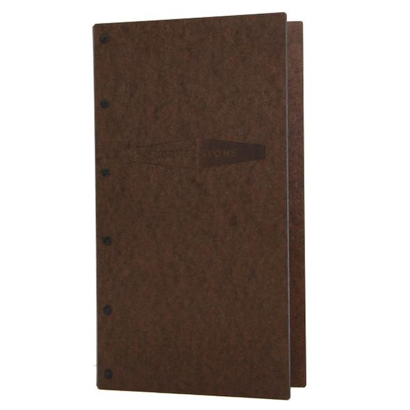 Riveted Hardboard Screw Post Menu Cover 5.5 x 11