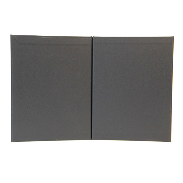 Imitation Leather Chicago Menu Board 8.5x11 Black Morocco Interior