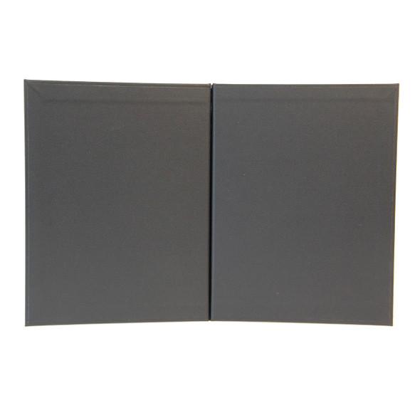 Imitation Leather Chicago Menu Board 8.5x11 Black Morocco Interior