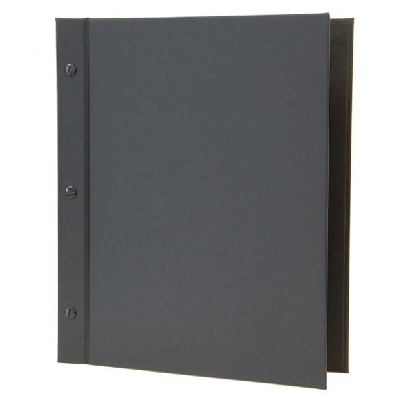 Imitation Leather Chicago Menu Board 8.5x11 Black Morocco