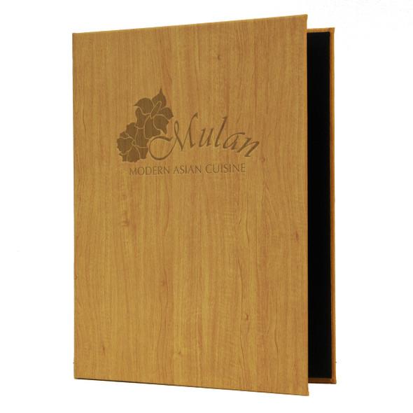 Wood Look Elastic Menu Cover