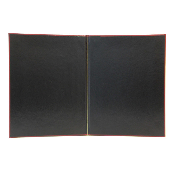 Interior view of Delano Elastic Menu Cover shows elastic loop option.