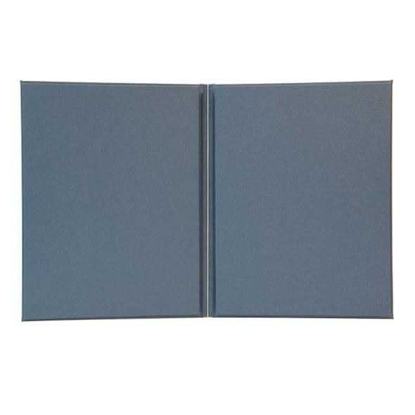 Interior of Cambridge Linen Menu Cover shows elastic loop option.
