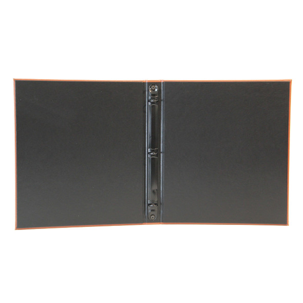 "Interior of Tavern Three Ring Binder with Delano Black and 1/2"" black mechanism."