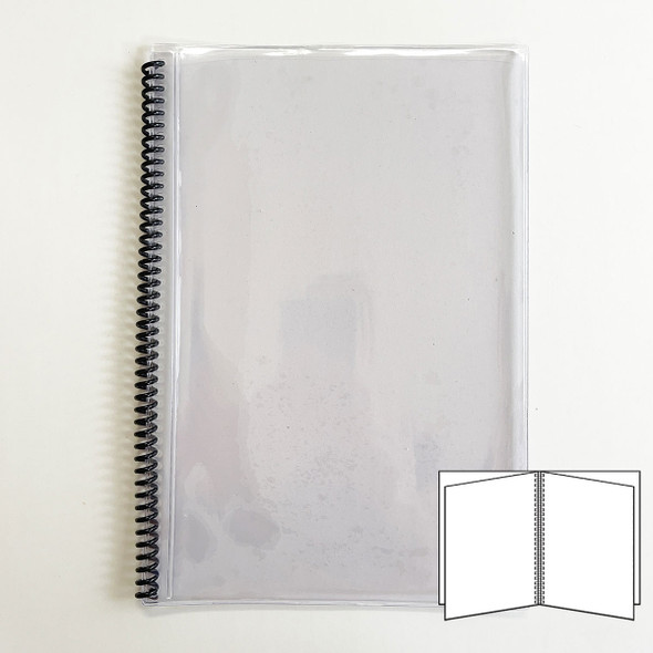 All Clear Spiral Menu Cover 4 Pages (8 Views) to fit 7x11 inserts