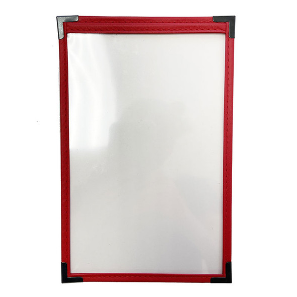 On Sale Sewn One Panel Two View Menu Cover 8.5 x 11 Leatherette