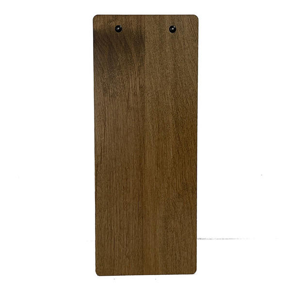 Stained Alder Dark Oak Rust Clip 425x11 with rust clip, back