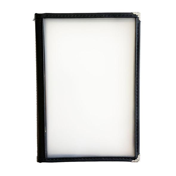 On Sale Sewn Four Panel Eight View Menu Cover 5.5 x 8.5 Leatherette