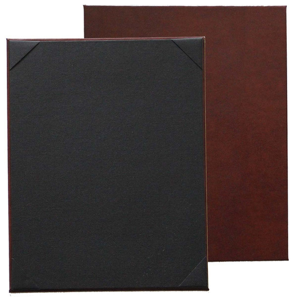 Bonded Leather One View Menu Board