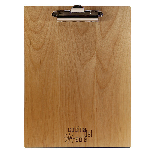 Alder Wood Menu Clipboard