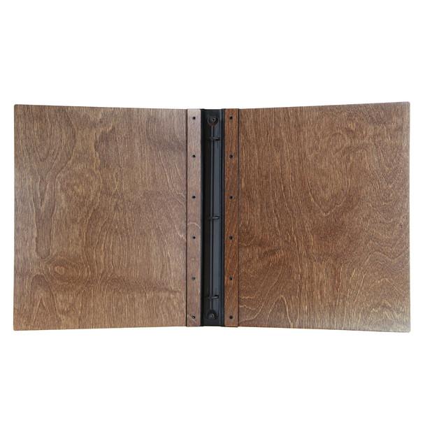 Riveted Baltic Birch Wood Three Ring Binder Interior