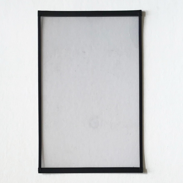 "Clearance Big Trim One Panel Two View Menu Cover 11"" x 17"" Black"