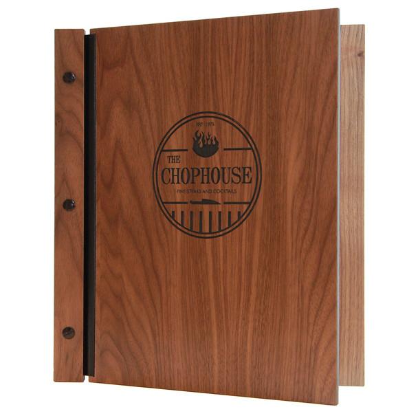 Walnut wood chicago menu board.