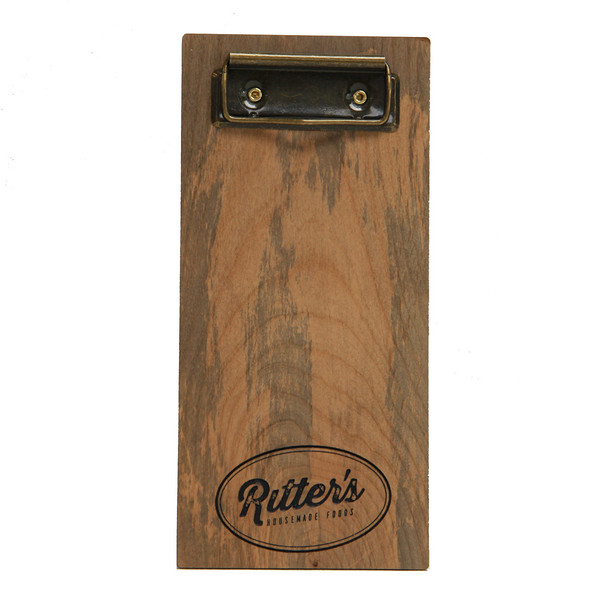 Distressed solid wood check presenter with clip in your choice of color.