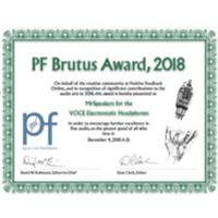 Positive Feeback Brutus Award 2018
