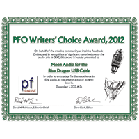 2012 Positive Feedback Writers Choice Award