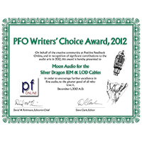 Positive Feedback 2012 Writers Choice Award