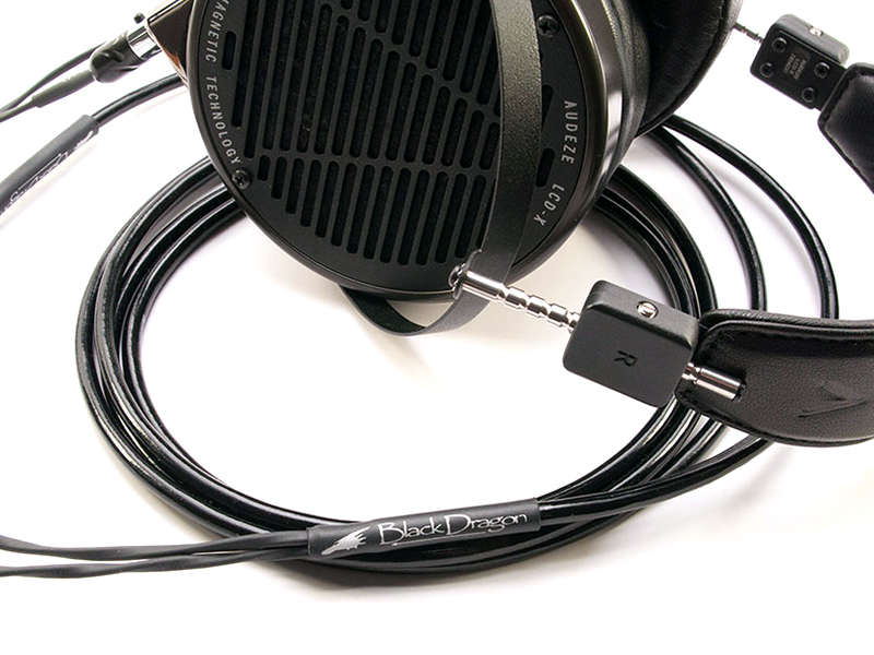 Black Dragon Premium Cable and Audeze LCD-X headphones