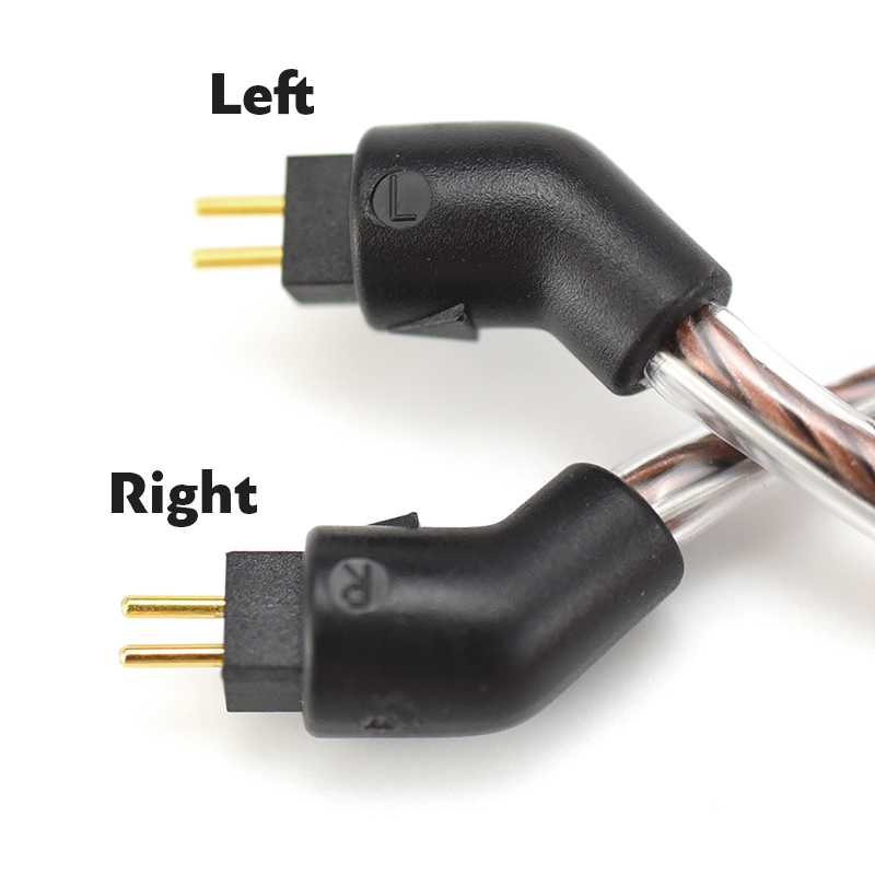 Bronze Dragon IEM Cable left and right channel markings