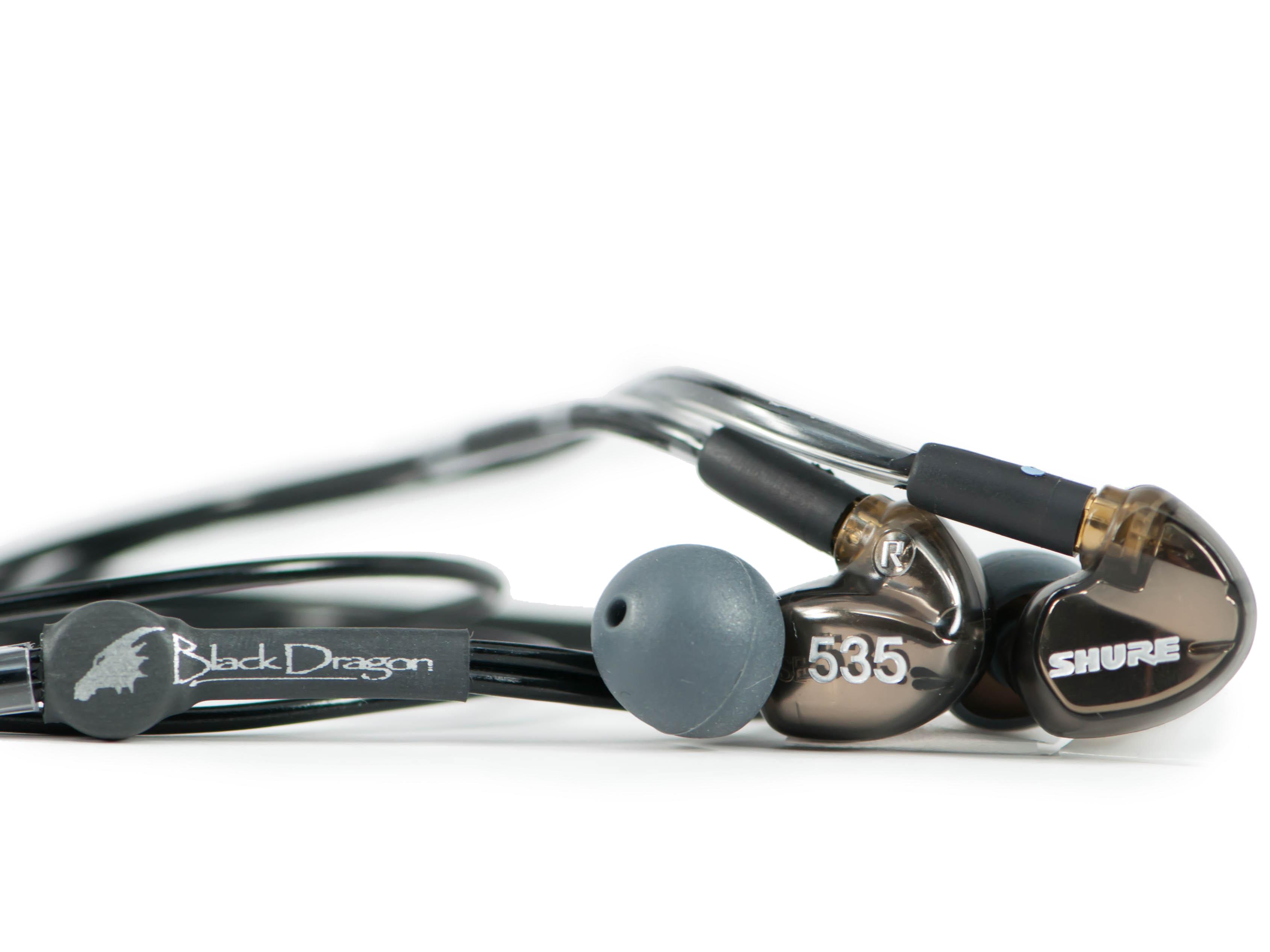 Shure SE535 Earphones + Black Dragon IEM
