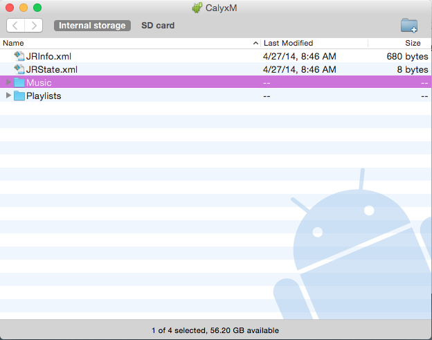 Android File Transfer Calyx M
