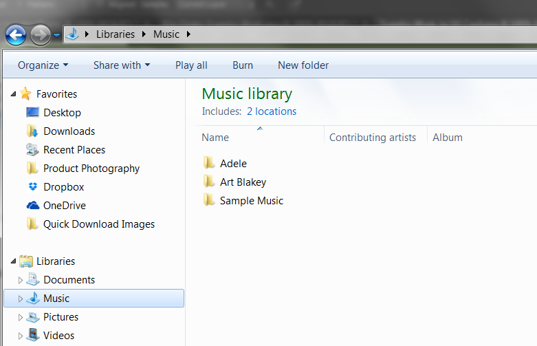 Windows Explorer Music