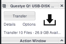 Transfer files to Questyle