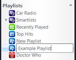 Name JRIver Playlist
