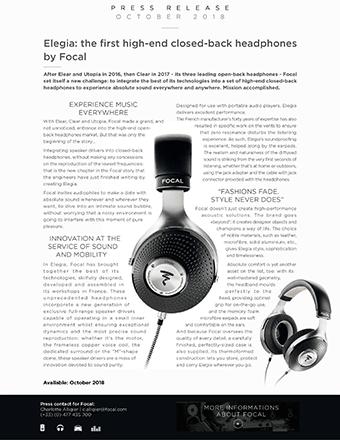 Focal Elegia Press Release
