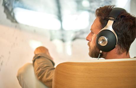man wearing Focal Elegia headphones